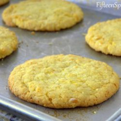Milk Bar Corn Cookies on Sheet Pan