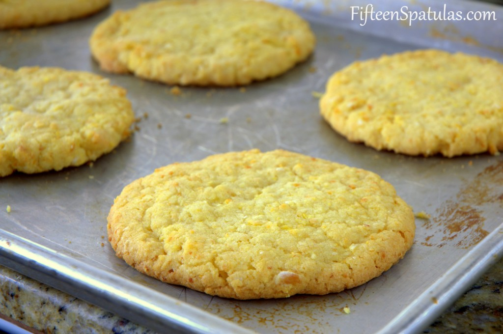 Corn Cookies - On Metal Sheet Pan