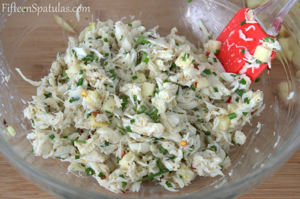 Crab Salad with Herbs for Filling in Bowl