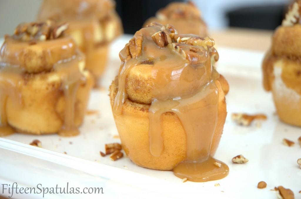 Pecan Sticky Buns Recipe with Butterscotch Glaze