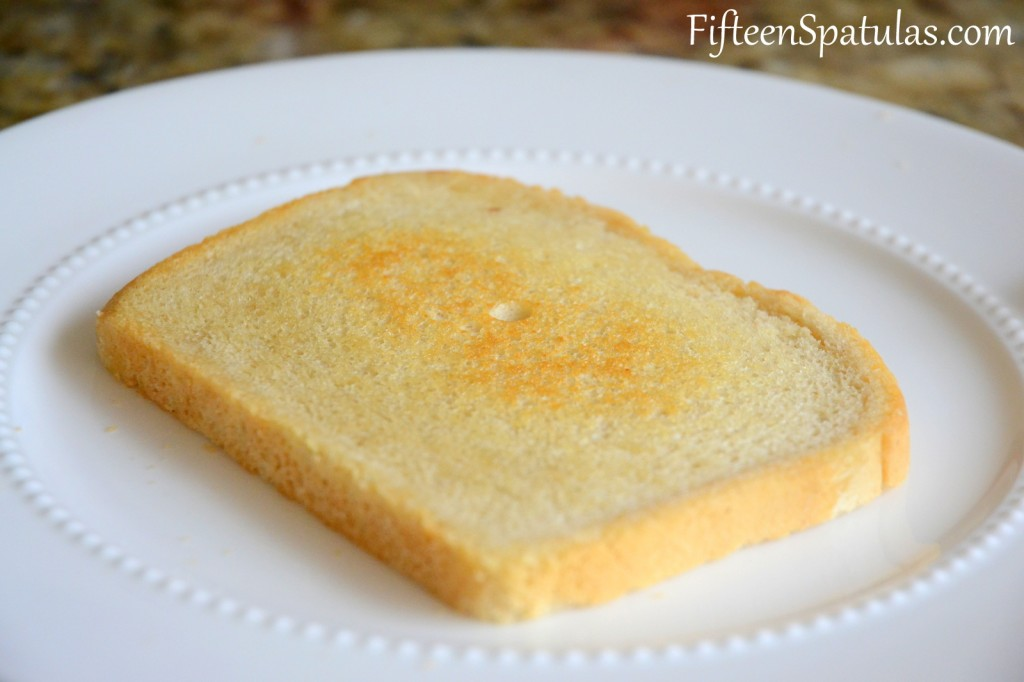 Toasted White Bread for Grilled Cheese
