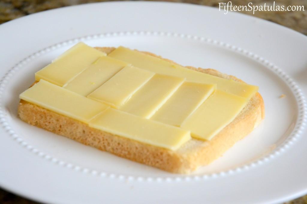 Gruyere Slices on White Bread