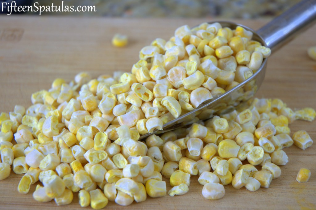 Freeze Dried Corn kernels on Board