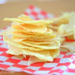 Fat Free Chips Made in Microwave