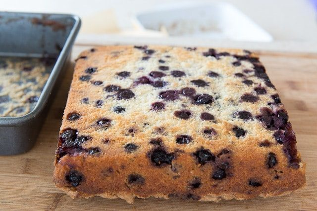 View of Bottom of Cake with Lots of Blueberries
