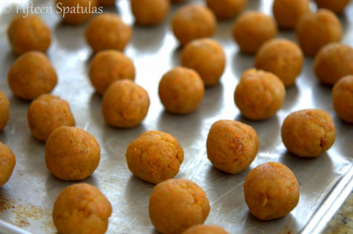 Carrot Cake Balls on Sheet Pan Uncoated