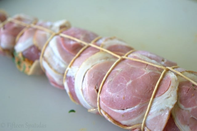 Pancetta Wrapped Pork Tenderloin Tied with Butcher\'s Twine