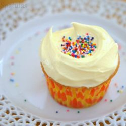 Vanilla Cupcake with French Almond Buttercream Frosting