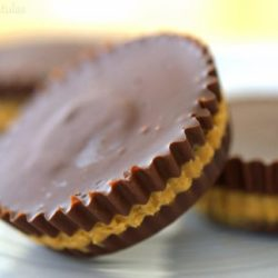 Homemade Peanut Butter Cups on White Dish