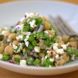 Asparagus Chickpea Salad with Feta