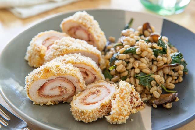 Chicken Cordon Bleu Recipe - Baked in the oven, not deep fried