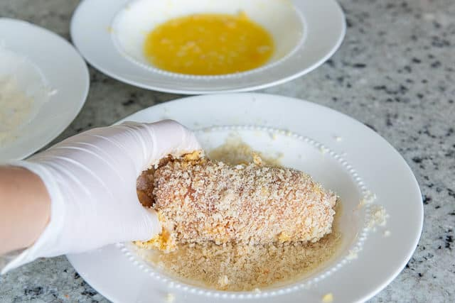 Chicken Cordon Bleu Ingredients - Chicken breast, ham, swiss, and panko breading