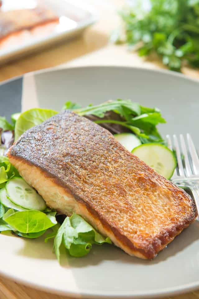 Pan Seared Salmon - with Crispy Skin! #salmon #salmonrecipe #seafood #quickmeals