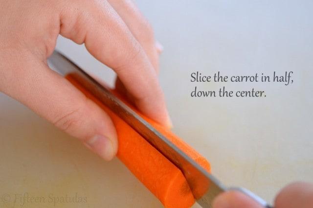Slicing Carrot in Half