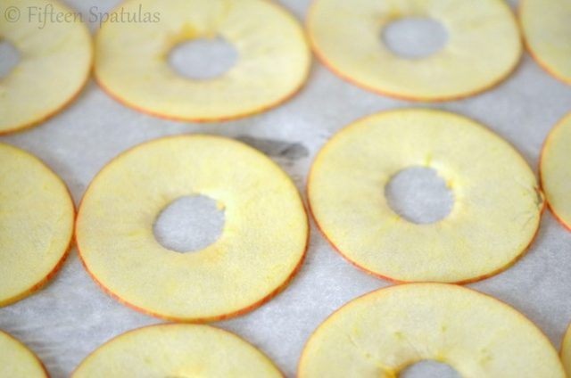 Thinly Sliced Apple Rounds with Core Removed