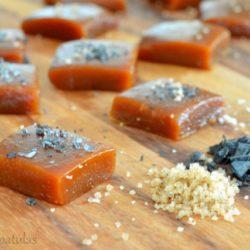 Pumpkin Spice Caramel Squares with Sea Salt