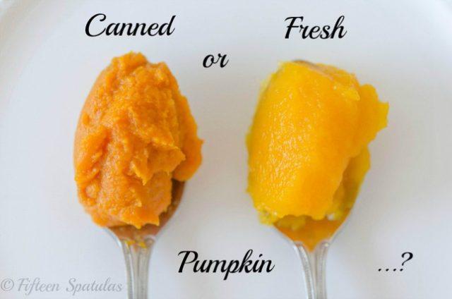 fresh pumpkin vs canned pumpkin for pie