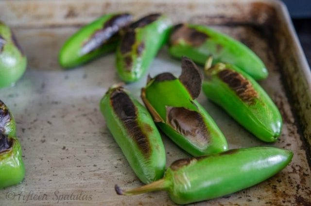 how to char jalapenos with broiler for cheese crackers