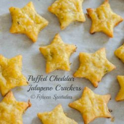 Jalapeno Cheddar Crackers in Star Shape