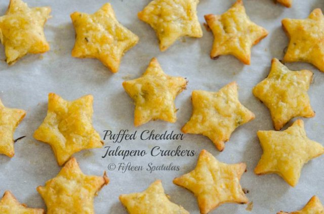 homemade jalapeno cheez its crackers in star shape