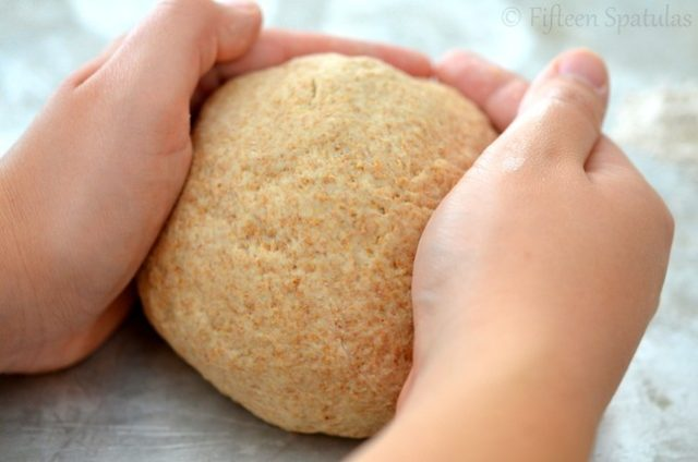 whole wheat pretzel dough ball