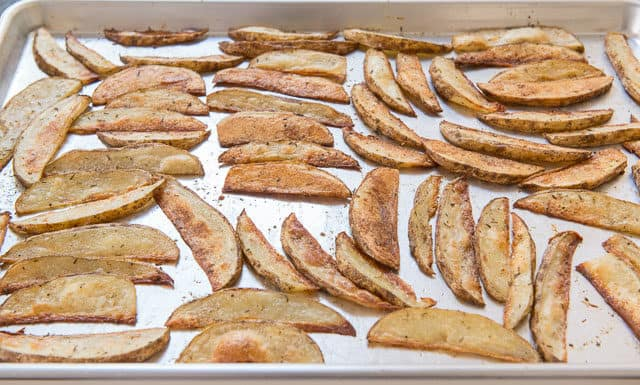 Oven Steak Fries on Sheet Pan