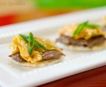 Korean BBQ Beef Bites on White Platter