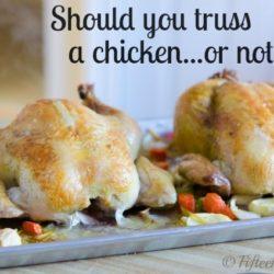 Two Roasted Chicksn on Sheet Pan