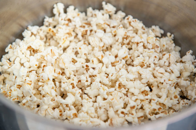 Making Popcorn on the Stove in Stainless Steel Pot