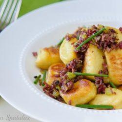 Potato Gnocchi with Pastrami Ragu and Chives