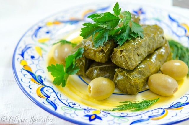 Stuffed Grape Leaves Grape Leaves With Beef Lemon And Herbs