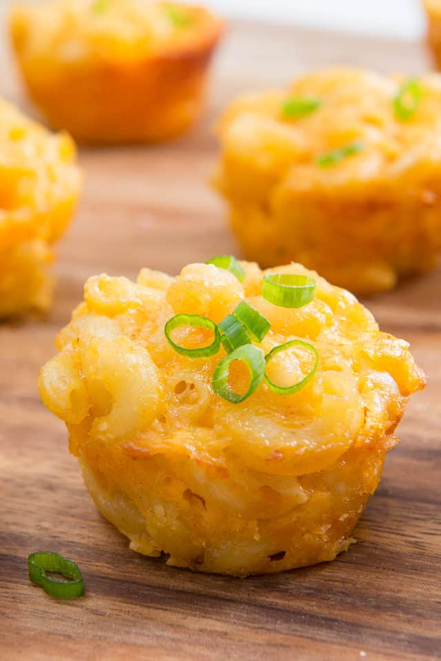 Mac and Cheese Cups are a fun party appetizer!