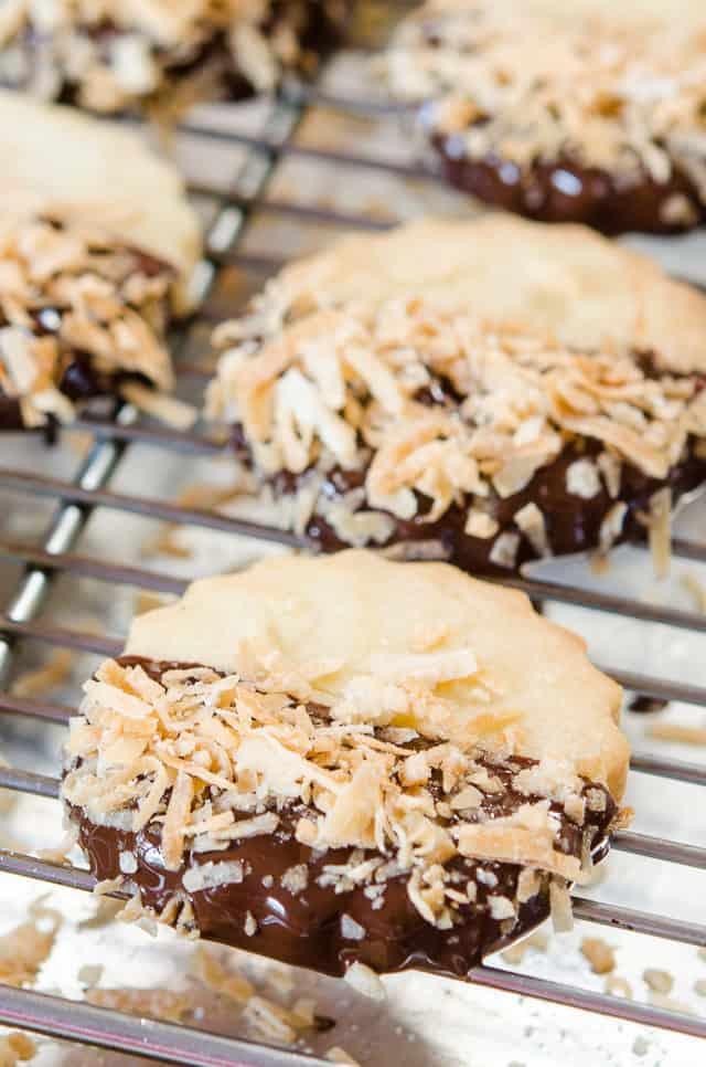 Coconut Shortbread - Chocolate Dipped Shortbread