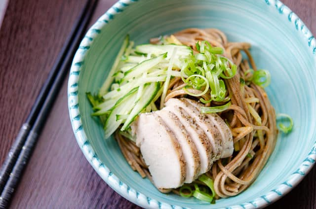 Soba Noodle Recipe - With Chicken, Cucumber, Scallion, and Sesame Dressing