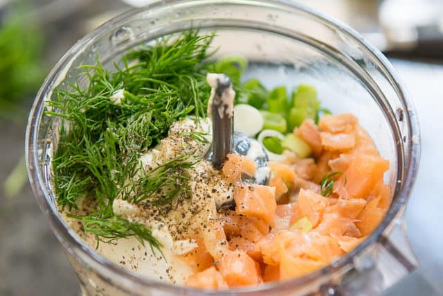Smoked Salmon Spread Recipe - In Food Processor with Cream Cheese, Salmon, and Dill
