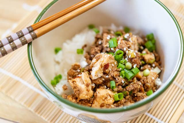 Pork Tofu - One of my favorite Ground Pork Recipes that is ready in 15 minutes!