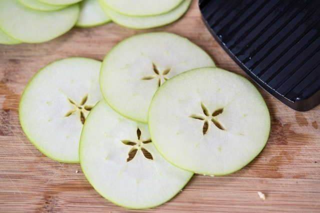 Granny Smith Apple Slices on Board