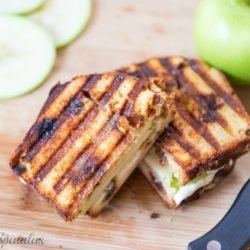Apple Pie Panini on Cutting Board