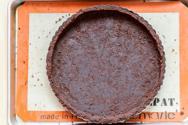 Chocolate Wafer Pie Crust - Pressed Into Tart Shell