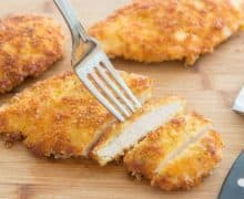 Parmesan Crusted Chicken is a quick, easy, delicious dinner to make, perfect for weeknights!