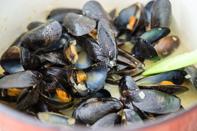 Green Curry Coconut Mussels Recipe @FifteenSpatulas