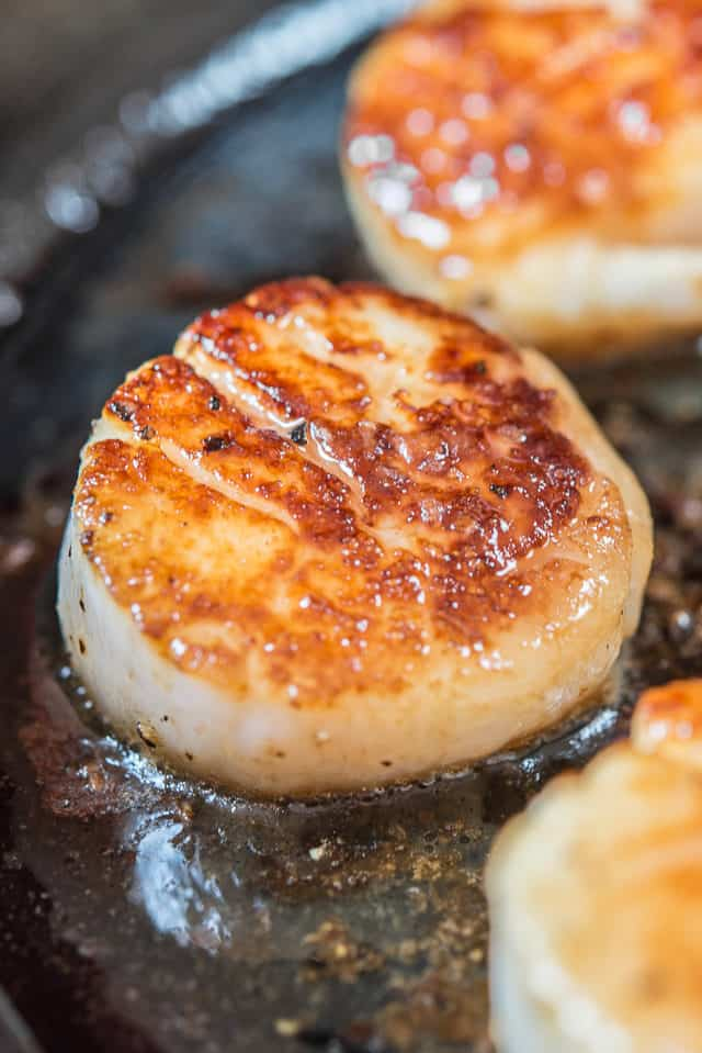 Pan Seared Scallops - In Cast Iron Skillet
