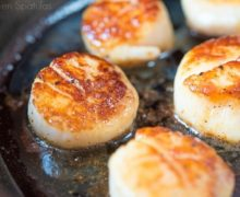Pan Seared Scallops In Cast Iron Skillet