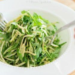 Shredded Zucchini Arugula Salad