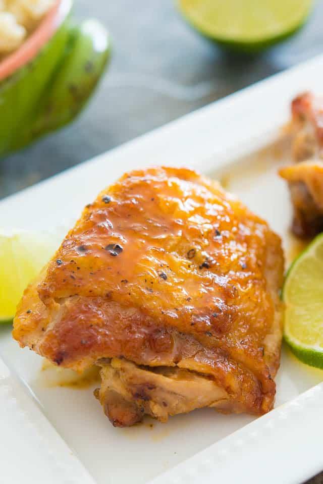 Honey Lime Chicken Thighs #chicken #chickenthighs #easy #recipe #dinner