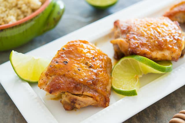 Honey Lime Chicken Thighs
