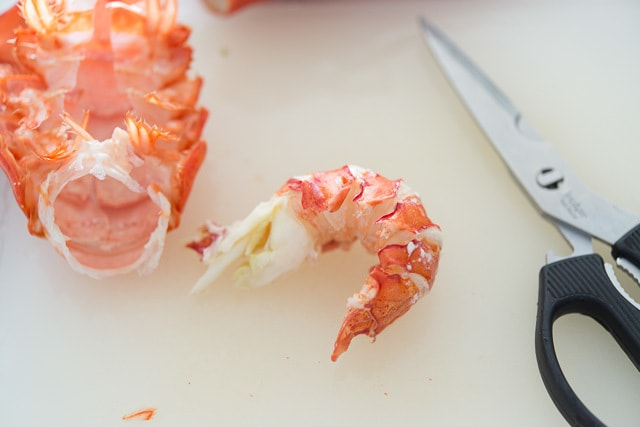 How to Prepare Lobster Tails - Removing Meat from Shell