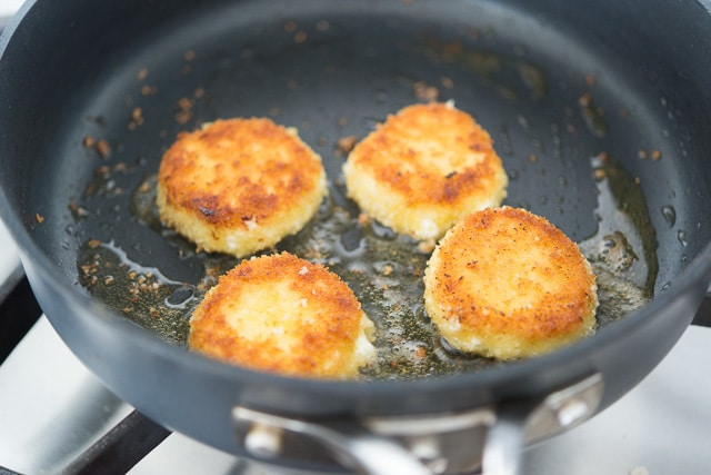 Fried Goat Cheese Cooked in the Skillet