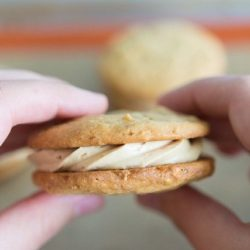 Peanut Butter Sandwich Cookies with Buttercream Filling