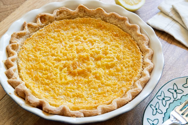 Buttermilk Pie - Baked Whole with Lemon Custard Filling